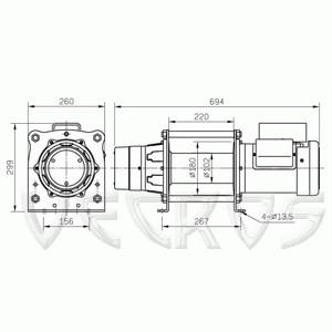 Электрическая лебедка CP-500T