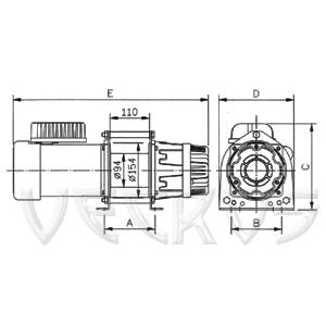 Электрическая лебедка CWG-30075