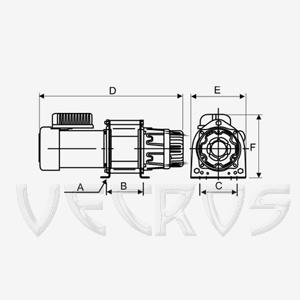 Электрическая лебедка KDJ-250E