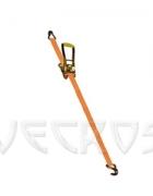 Стяжной ремень (ширина 75 мм) с крюками